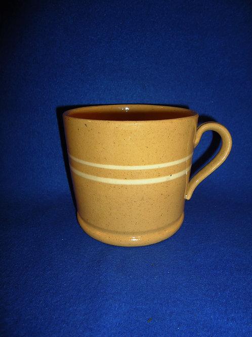 Circa 1880-1920 Yellow Ware Slipped Banded Mug #5713