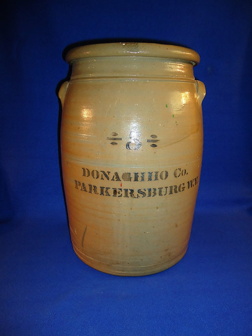 Donaghho Company, Parkersburg, West Virginia Stoneware 5 Gallon Jar