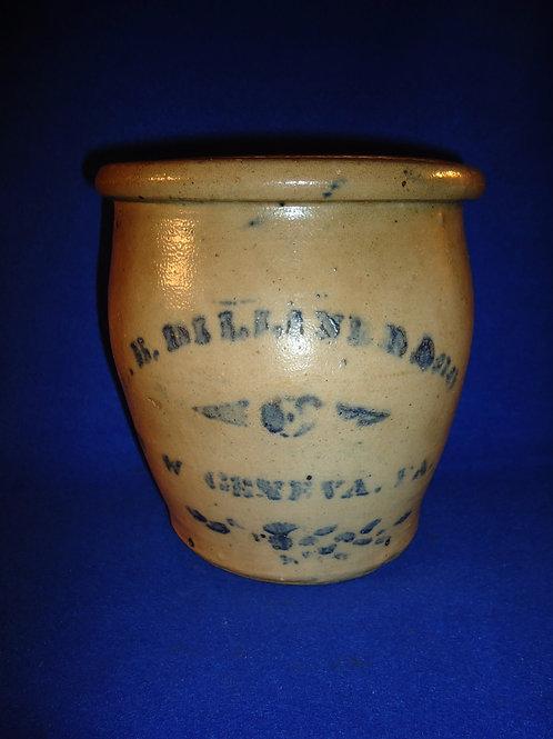 L. B. Dilliner, New Geneva, Pennsylvania Stoneware 1 Gallon Cream Pot