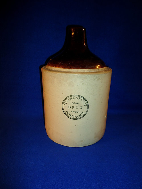 Minneapolis Drug Company Stoneware Jug by Red Wing Stoneware