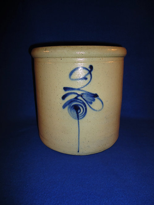 Circa 1880 2 Gallon Stoneware Crock from the Midwest with Fancy Beesting #5715