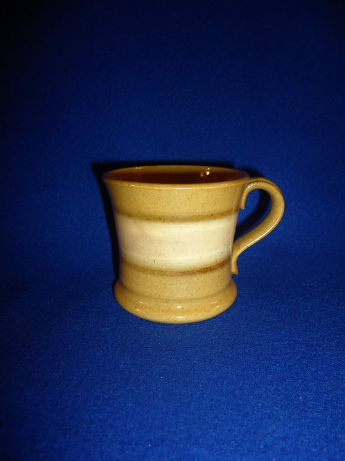 Mid-19th Century Yellow Ware Child's Slip Banded Mug