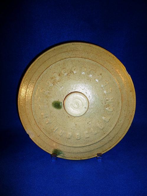 Hubbell & Chesebro, Geddes, New York Stoneware Crock Lid