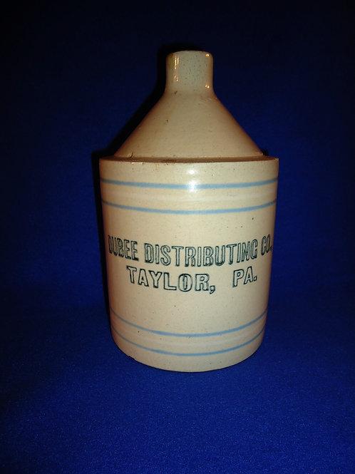Dubee Distributing, Taylor, Pennsylvania Stoneware 1/2 Gallon Jug