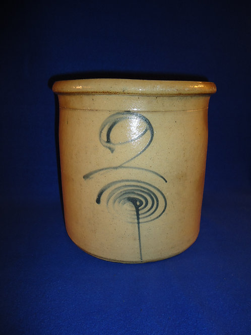 Red Wing 2 Gallon Stoneware Crock with Target Decoration