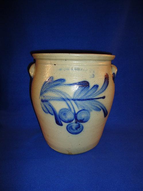 Cowden & Wilcox, Harrisburg, Pennsylvania Stoneware 3g. Jar with Cherries
