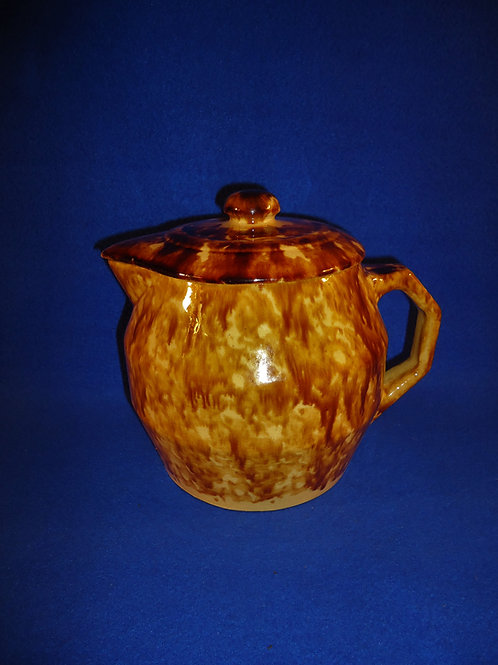 Yellow Ware Batter Pitcher with Lid, Brush McCoy 1925, #4942