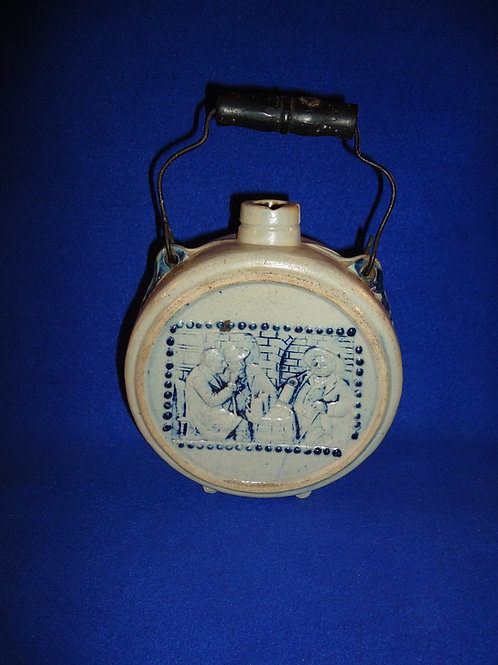 Cofield, Exchange Saloon, Mineola, Texas Stoneware Canteen by Whites Utica