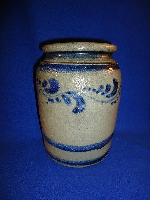 Circa 1870 Stoneware 1 Gallon Jar with Freehand Decoration from SW Pennsylvania