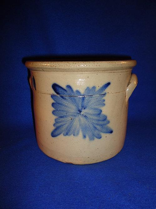 Easton, Pennsylvania Stoneware 1g Crock with Cobalt Burst, Daub or Harris