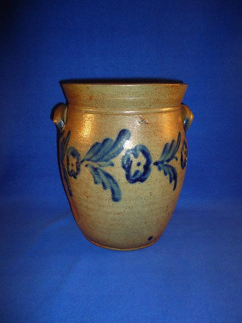 Circa 1835 3 Gallon Stoneware Ovoid Jar, att. Henry Remmey of Philadelphia #5359