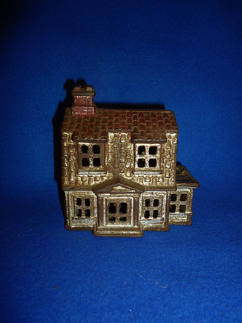 """Cast Iron Still Bank, """"Colonial House with Porch"""" #5524"""