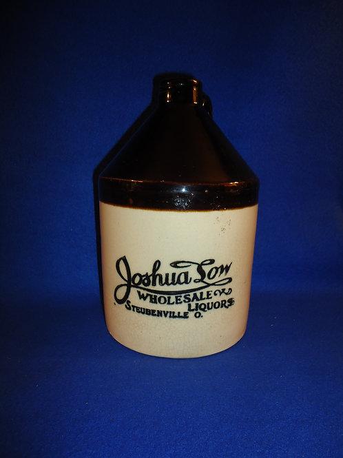 Joshua Low, Liquor Dealer, Steubenville, Ohio 1/2 Gallon Stoneware Jug #5553