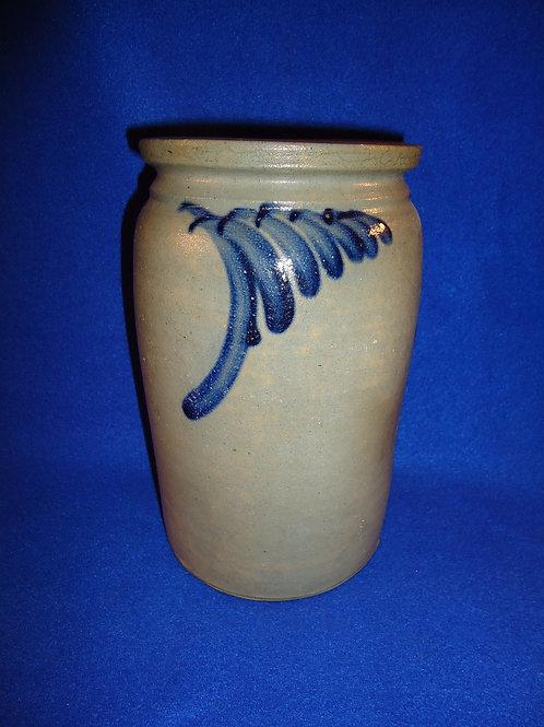 Circa 1870 1/2 Gallon Stoneware Jar from Baltimore, Maryland