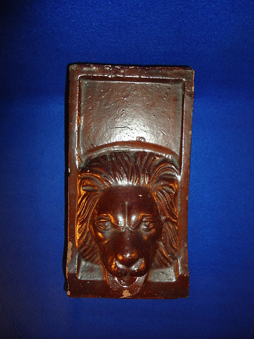 Sewer Tile Stoneware Lion's Head Fountain Spout