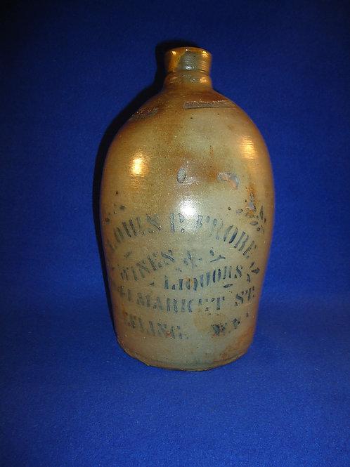 Louis Frobe, Wheeling, West Virginia Stoneware 1/2 Gallon Jug #4470