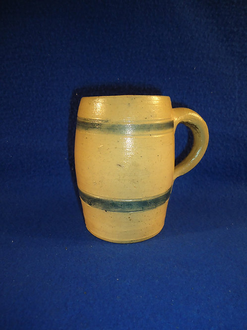 19th Century Stoneware Mug with Two Incised Stripes  #4434