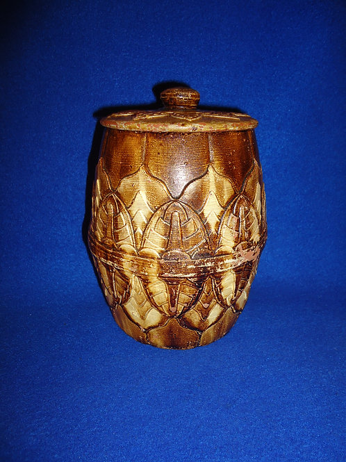 J. G. Dill, Richmond, Virginia Redware Lidded Tobacco Jar