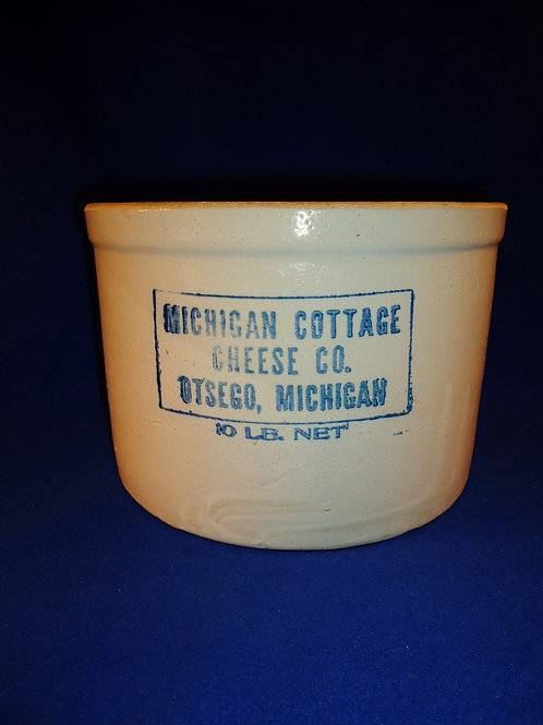 Michigan Cottage Cheese, Otsego, Michigan Cottage Cheese Crock
