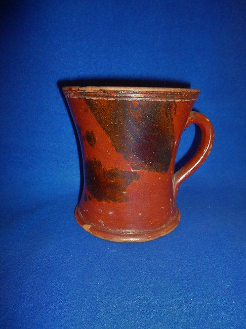Circa 1840 Redware Mug with Manganese Splashes #4450