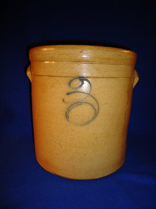 Circa 1880 Stoneware 3 Gallon Crock from the Midwest