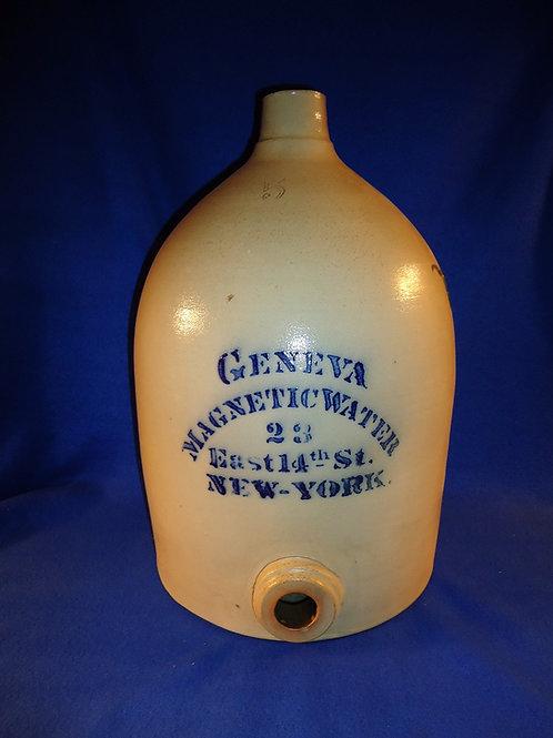 Geneva Magnetic Water, New York City Stoneware 5 Gallon Water Cooler
