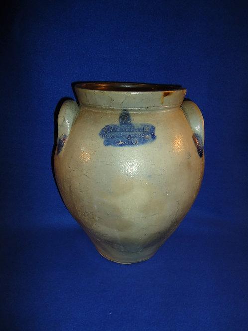 I. M. Mead, Portage County, Ohio Stoneware Ovoid Jar #5545