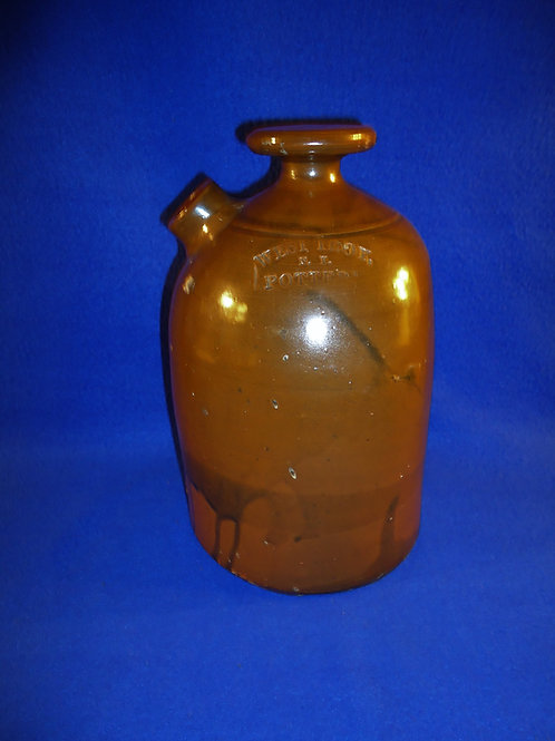 West Troy Pottery, William Warner, Stoneware Foot Warmer,#4771