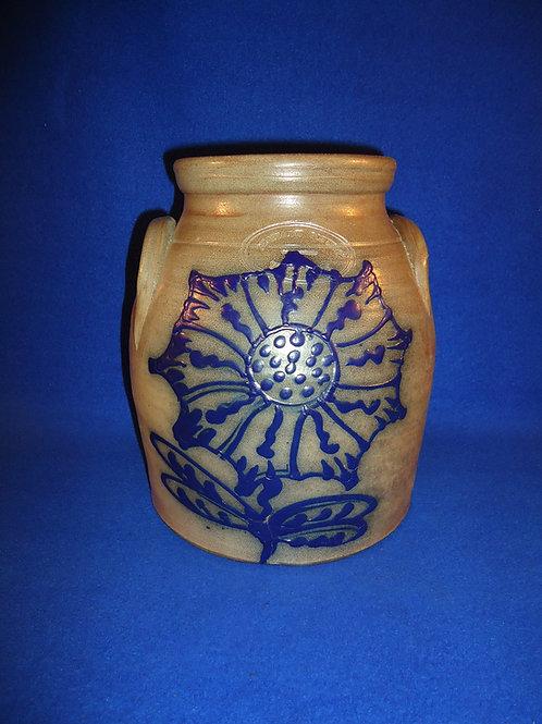 Beaumont Pottery, York, Maine Stoneware Jar with Sunflower #5087