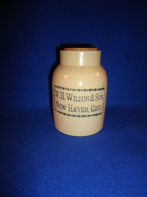 W. H. Wilson, New Haven, Connecticut Stoneware Oyster Jar