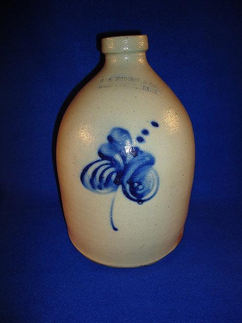 F. B. Norton, Worcester, Massachusetts 1g Stoneware Jug with Swirl Floral