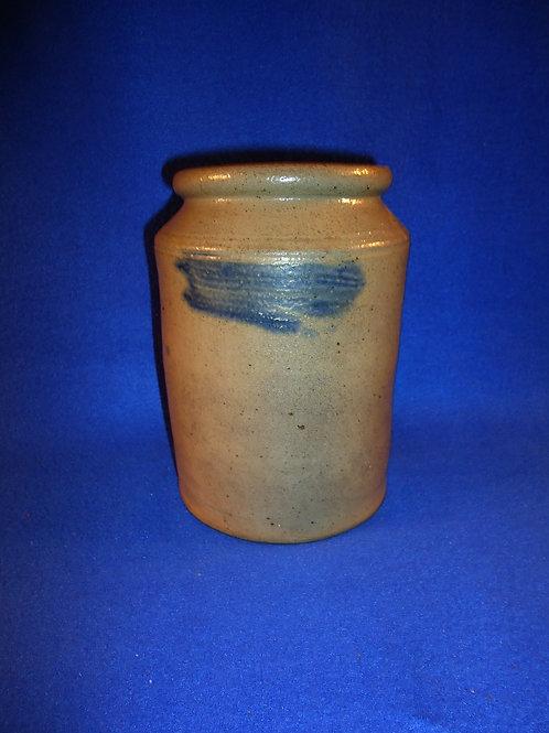 Circa 1820 Old Bridge, New Jersey Decorated Stoneware Canner