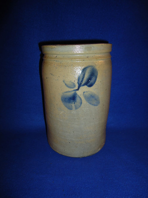 Circa 1870 Stoneware Jar with Blossoms, Baltimore, Maryland #5598