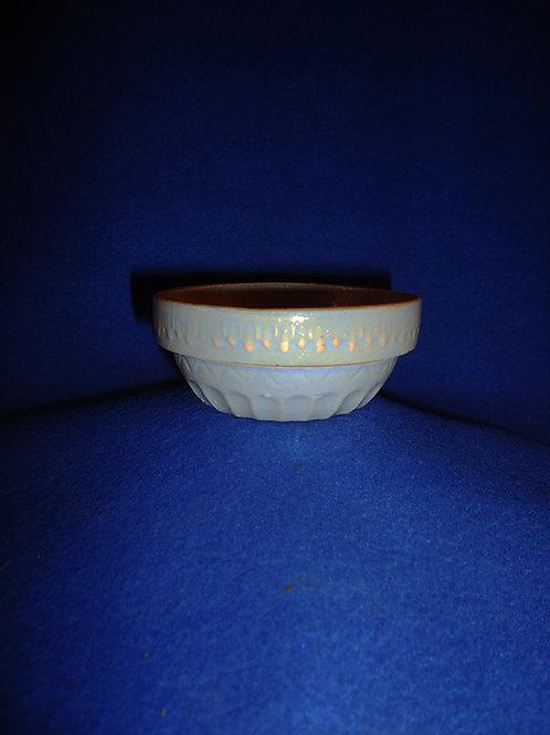 "Blue Stoneware Toy Bowl marked ""Bohemian"" #5875"