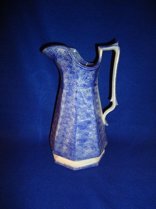 Circa 1830 Staffordshire Spatterware Octagonal Pitcher