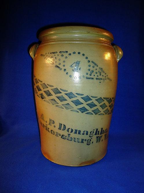A. P. Donaghho, Parkersburg, West Virginia Stoneware 4 Gallon Jar