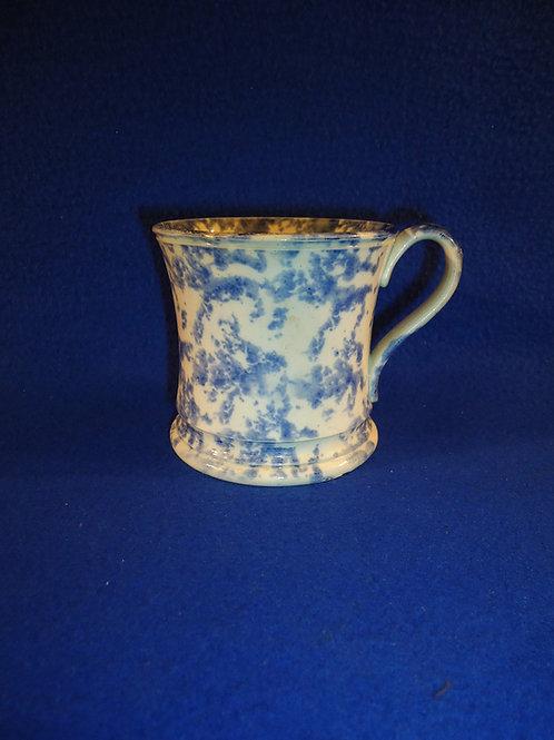 Staffordshire Blue and White Spongeware Mug
