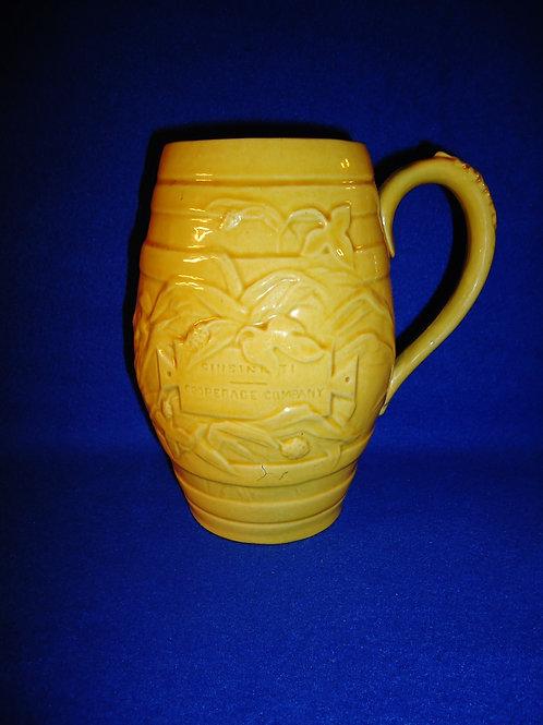 Large Yellow Ware Mug, Cincinnati Cooperage Company, Ohio