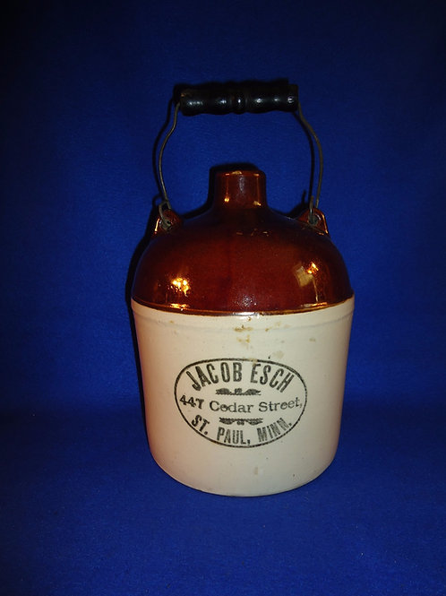 Jacob Esch, St. Paul, Minnesota 1g Jug by Red Wing