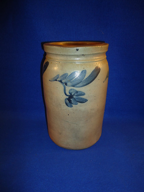 Circa 1870 Jar with Dangling Tulips from Baltimore, Maryland, #4746