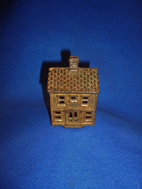 Cast Iron Still Bank, Two Story House #5540