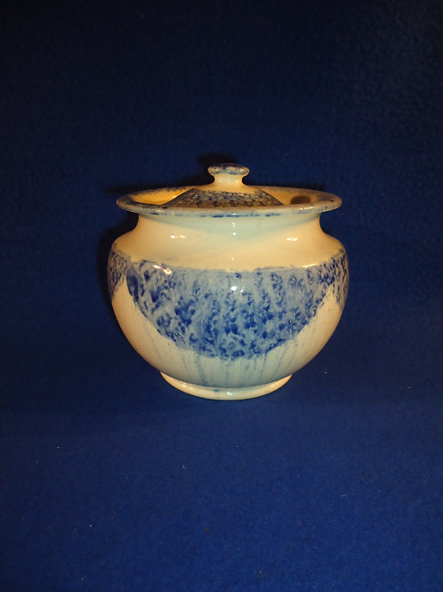 Early 19th Century Staffordshire Blue and White Spatterware Sugar Bowl #4487