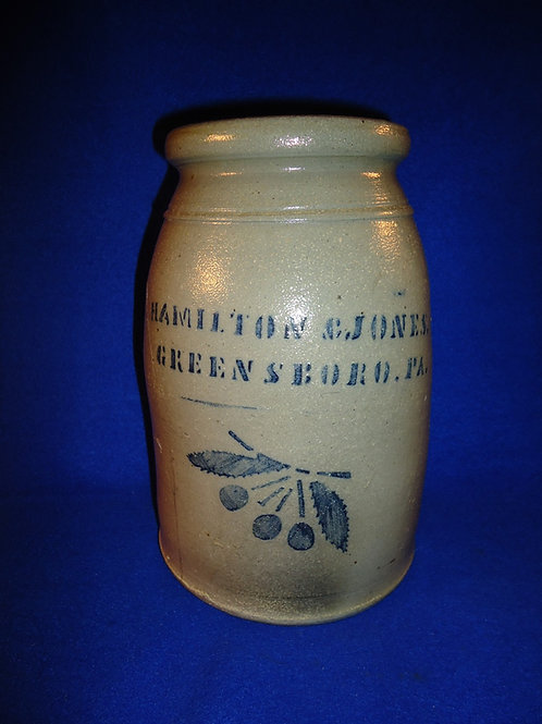 Hamilton & Jones, Greensboro, Pennsylvania Stoneware Cherries Wax Sealer