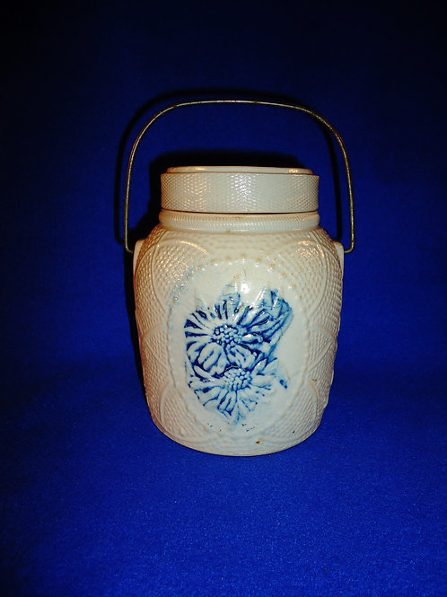Small Whites of Utica, New York Stoneware Covered Canister