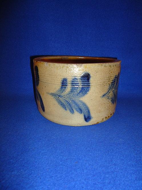 Circa 1860 Small Stoneware Butter Crock, att. Remmey #4590