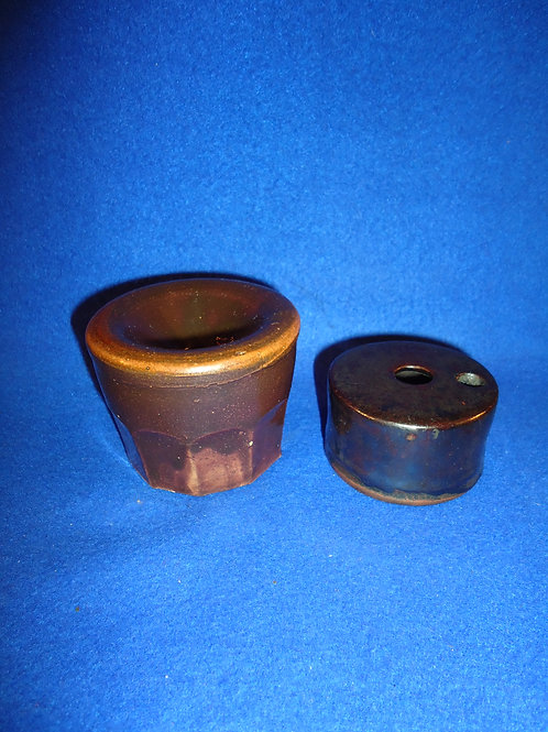 Two 19th Century Stoneware Inkwells for One Money,#4893