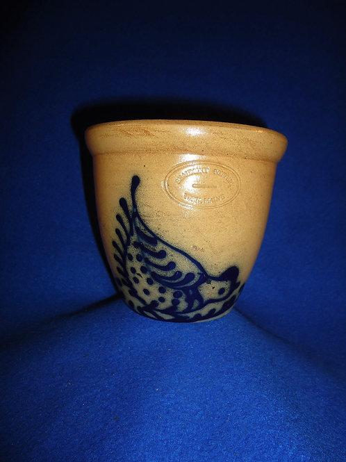 Jerry Beaumont, York, Maine Stoneware Custard Cup with Chicken #5188