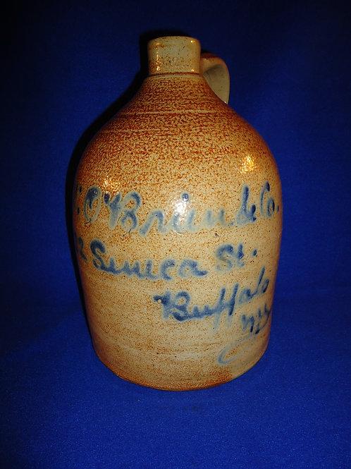 H. W. O'Brien, Buffalo, New York Stoneware 1 Gallon Script Jug