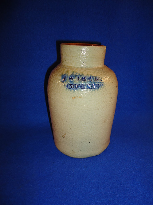 J. W. Lewis, Bangor, Maine Stoneware Oyster Jar