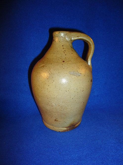 "Circa 1840 Salt Glaze 6"" Ovoid Jug from the Northeast"
